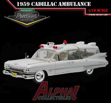 GREENLIGHT COLLECTIBLES / PRECISION 18004 1:18 1959 CADILLAC AMBULANCE WHITE
