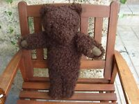 Vintage teddy bear  with glass eyes   very rare.Paws of genuine leather