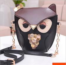Women Girl Owl Print Shoulder Bag Cross Body Purse Satchel Messenger Handbag