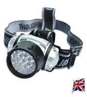 19 LED ULTRA BRIGHT HEADTORCH LIGHT HEADLAMP CAMPING HIKING LIGHTING OUTDOOR TSR