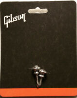 Gibson Aluminum Strap Buttons Set Les Paul SG ES Guitar Parts / Genuine Parts