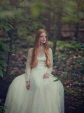 Tadashi NWT vintage wedding dress mesh, lace, polka dot tulle sz 6 $550