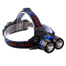 10000LM XML T6 LED Headlamp USB Headlight Headlamp Light Lamp By 18650/AA/AAA