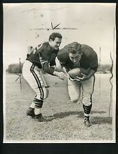 Sid Luckman & Dante Magnani Armed Forces Charity 1949 Press Photo Chicago Bears