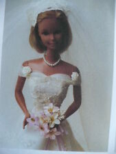 18 INCH SUPERSIZE BARBIE ELEGANT SIMPLICITY WEDDING GOWN PATTERN