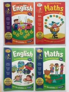 KS1 Maths & English Leap Ahead Home Learning Set of 4 Workbook Age 6-8 Years New