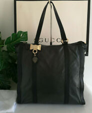 Gucci Black and Green Leather Duchessa  Bow Large Tote Bag  Handbag  RRP £1,455
