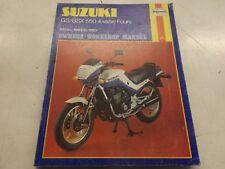 Suzuki GS/GSX 550 4 valve fours motorcycle manual