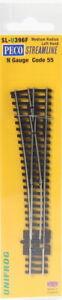 Peco SL-U396F ~ Unifrog ~ Medium Radius ~ Left Hand Turnout ~ Code 55