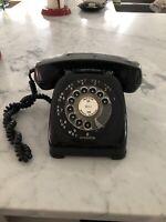 Vintage Automatic General Electric Monophone Rotary Telephone Black Bakelite