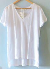Zara Hip Length Patternless Short Sleeve T-Shirts for Women