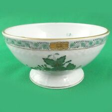 "CHINESE BOUQUET Herend Green Rice Bowl Soup 5"" NEW NEVER USED Hungary 24kt Gold"