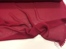 Plain Deep Wine Red Crepe Dress Fabric. Price Per Metre.