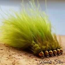 G/H Damsel Lures size 10 (Set of 3) Olive Fly Fishing Flies Trout