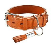 collier cuir petit chien hunter cannes  35  19-27 cm 63300 orange