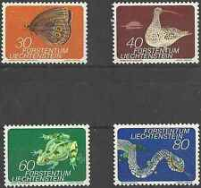 Timbres Animaux Liechtenstein 538/41 ** lot 18726
