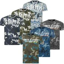 c84d30dc222b6 Mens Smith   Jones By Crosshatch Military Camouflage Camo T Shirt Army Tee  Top
