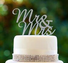 Mr & Mrs Diamante Cake Topper
