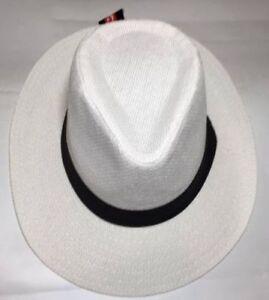 Women Men Brown Fedora Trilby Gangster Cap Summer Beach Sun Straw Panama Hat Bow