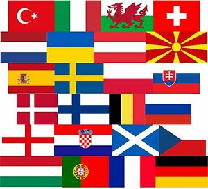 EUROS 2020 2021 COUNTRY FLAGS 5 X 3FT FOOTBALL DECORATION NATIONAL FLAG
