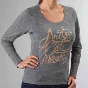 New Arctic Cat Women's Motorsports Long Sleeve T-Shirt ~ Gray ~L~ # 5253-634