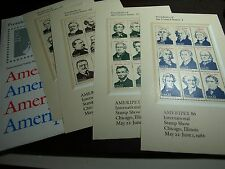 US POSTAGE: $7.92 FACE SCOTT #2216-2219 22 CENT PRESIDENTS SHEETS CAT $30.00