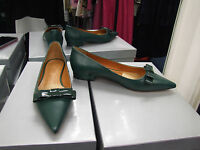 Cecille BNIB UK 3.5 Dark Green Flat Moccasins Loafers Court Shoes with Bow EU 36