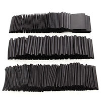 415PCS Electrical Heat Shrink Tube Tubing Wrap Wire Sleeve Assortment Black BE