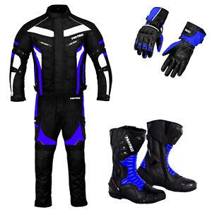 Men Motorcycle Racing Textile Suit Motorbike Leather Boots Waterproof Suits Boot