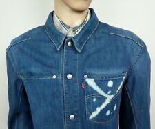 Levi's Mens Trucker Jacket Rigid Denim Snap Button Size L Large Chest 42 NEW