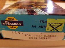 HO Athearn Work Train Baggage Union Pacific Kit # 1147