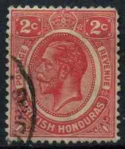 British Honduras 1922-33 SG#128, 2c Rose-Carmine KGV MH #D56995