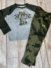 Under Armour 5 6 7 All Camo Everything Long Sleeve Outfit Set NEW