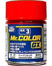 GSI CREOS GUNZE MR HOBBY Color GX003 GX3 Hermann Red LACQUER PAINT 18ml NEW