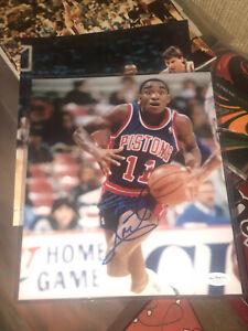 Isiah Thomas Signed 8x10 Photo Exc. Detroit Pistons JSA Auto Original