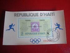 HAITI - 1969 OLYMPIC MARATHONS 1 - UNMOUNTED USED SOUVENIR MINIATURE SHEET