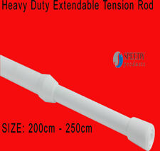 Speedy 200-250cm Heavy Duty Extendable Tension Rod For Light-Medium Net Curtains