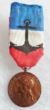 Médaille d'Honneur Marine Nationale BRONZE attribuée 1973 ORIGINAL French medal