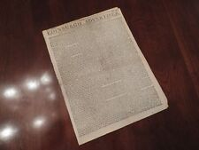 Important Intelligence on Battle of Cowpens - RARE British Feb 1781 Newspaper
