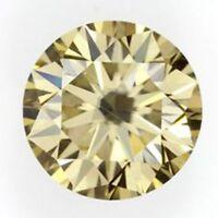 Light Brown Color 1.00 Ct Genuine Loose Moissanite Round Brilliant Cut VVS1/2