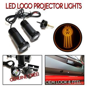 Lumenz C3 LED Logo Courtesy Door Lights Ghost Shadow Kenworth KW 100649 Amber