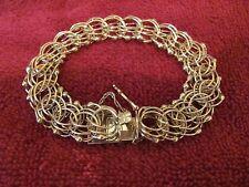 Women's 14KT Gold Multi Strand Bracelet 25 Grams Gold