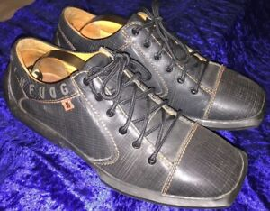 John Fluevog Will Black Leather Future Angels Men's Shoes, Us 10 M