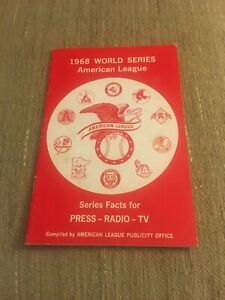 1968 World Series American League Series And Facts For The Radio And Press 5x7