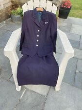 British airways ladies size 10 cabin crew uniform -jacket with size 14 skirt