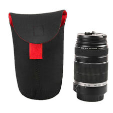 Size M Waterproof Neoprene DSLR Camera Lens Pouch Case Bag for Canon