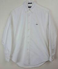 Giordano Classics White Japanese Cotton OCBD Oxford Button Down Shirt Size M
