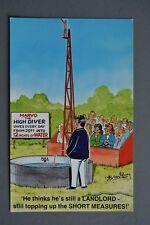 R&L Postcard: Bamforth 2032 High Dive Swimming Circus Performer, Landlord Joke