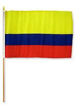 "12x18 12""x18""  Colombia Stick Flag wood staff"