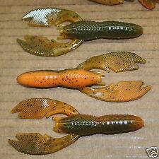 "4"" Swimming Craw Alabama Craw Bass Plastics 50 count bag worm Jig Trailer"